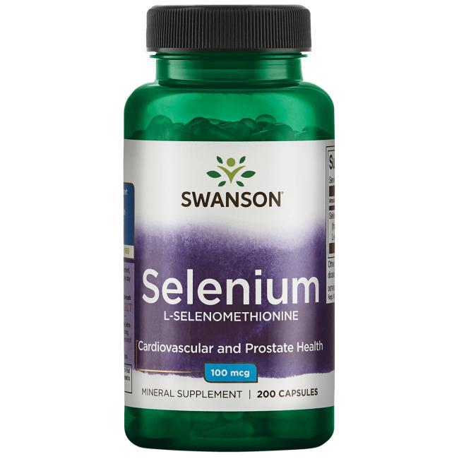 Селен (L-Селенометионин), Swanson, 100 мкг, 200 капсул