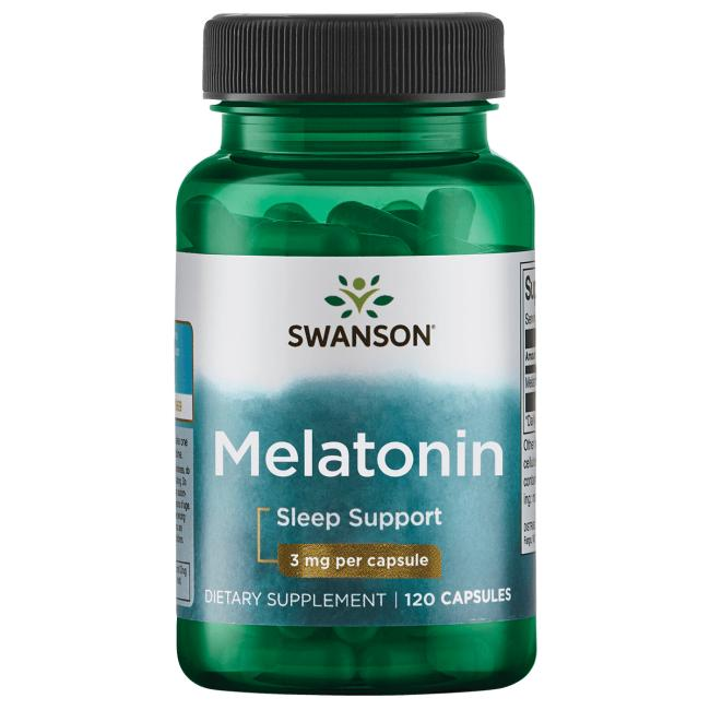 Мелатонин, Swanson, 3 мг.