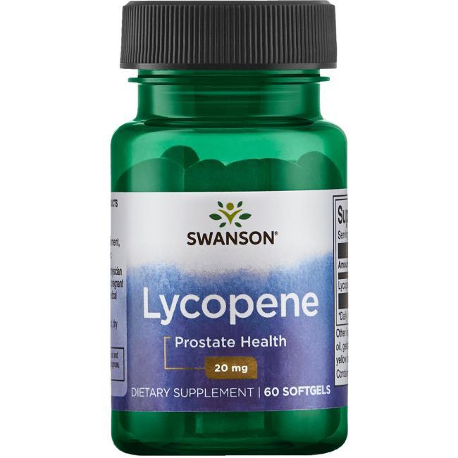 Ликопин, здоровье простаты, Swanson, 20 мг, 60 гелевых капсул