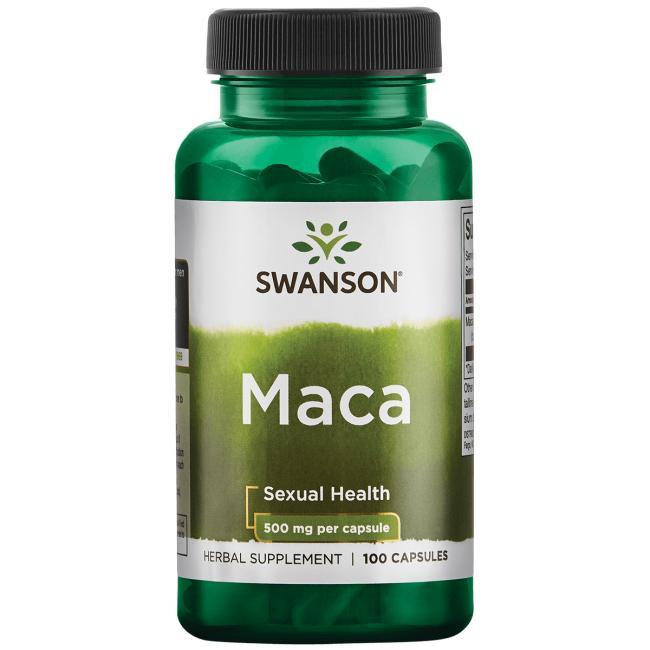 Мака, Swanson, 500 мг, 100 капсул
