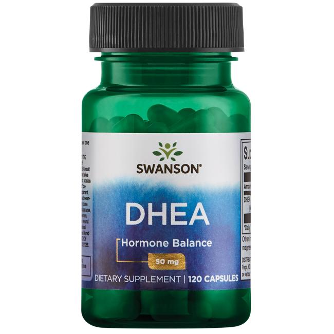 ДГЭА (дегидроэпиандростерон), DHEA, Swanson, 50 мг, 120 капсул