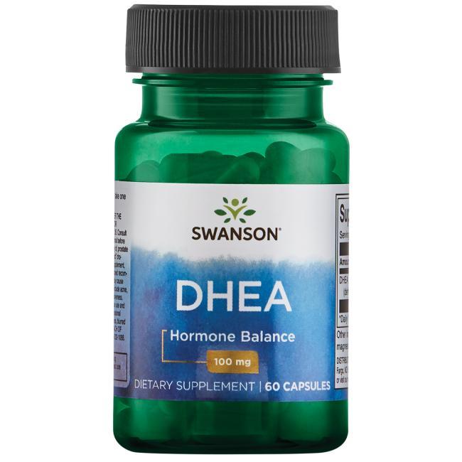 ДГЭА (дегидроэпиандростерон), DHEA, Swanson, 100 мг, 60 капсул