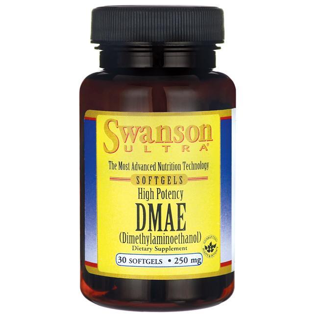 DMAE (Диметиламиноэтанол), Swanson, 250 мг, 30 гелевых капсул