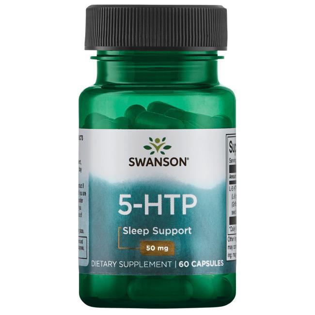 5-НТР (L-5 гидрокситриптофан), Swanson, 50 мг, 60 капсул