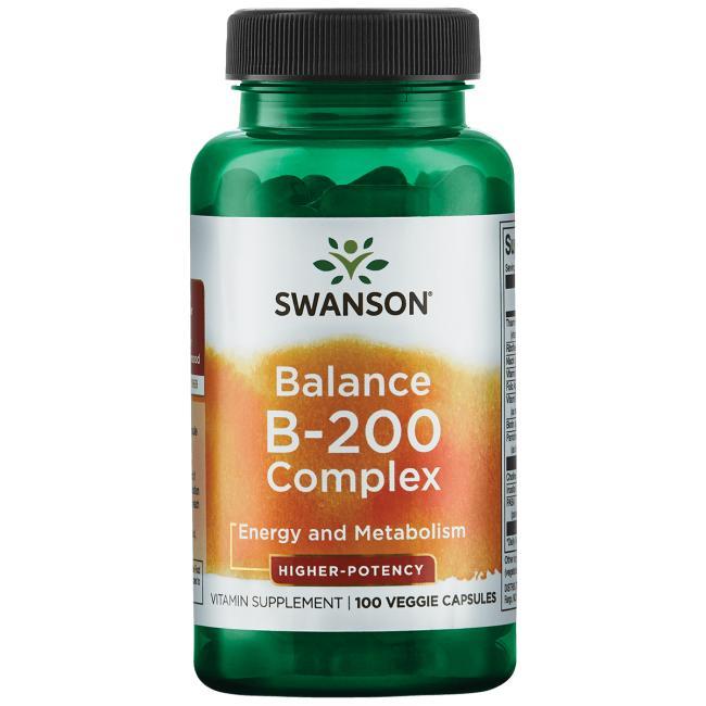 Комплекс витаминов В-200, Swanson, 100 вегетарианских капсул