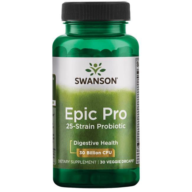 Пробиотики для поддержки пищеварительной и иммунной систем, Swanson, 25 штаммов, 30 млрд КОЕ, 30 вегетарианских капсул