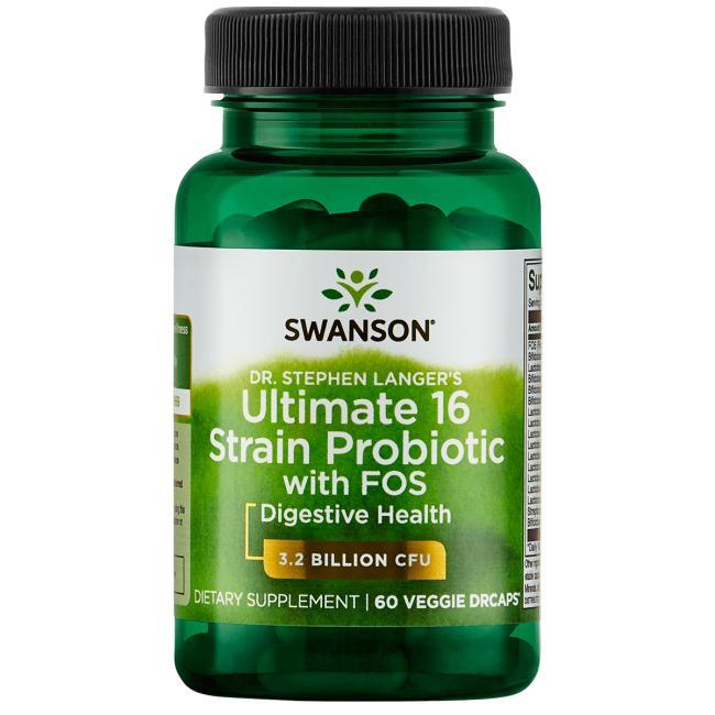 Пробиотики, Swanson, 3 млрд. КОЕ, 60 вегетарианских капсул