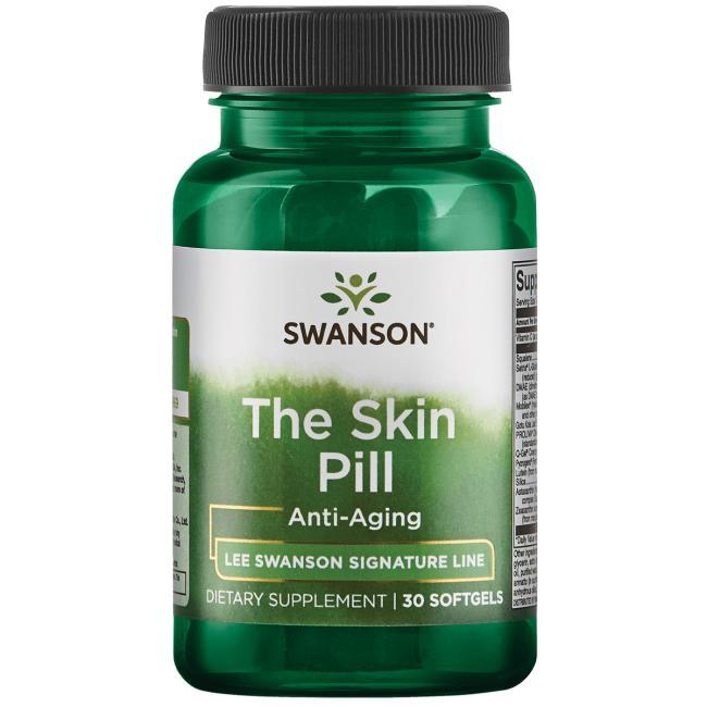 Поддержка для кожи, против старения, Swanson, 30 гелевых капсул