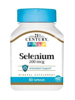 Селен (Selenium), 21st Century Health Care, 200 мкг, 60 капсул