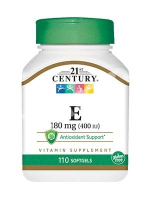 Витамин Е- 400, 21st Century Health Care, 110 кап.