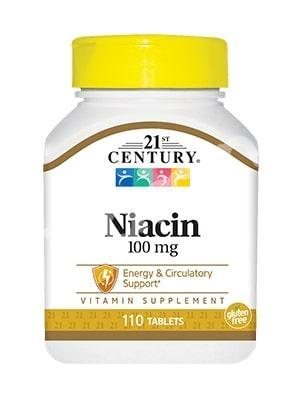 Витамин В3, ниацин, 21st Century Health Care, 100 мг, 110 табл.