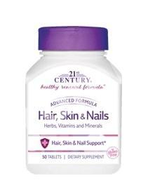Витамины для кожи и волос, 21st Century, 50 таблеток