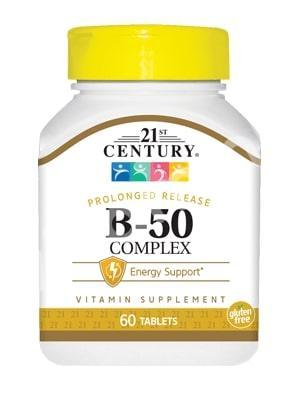 Комплекс В-50, 21st Century Health Care, 60 табл.