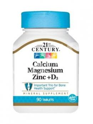 Кальций Магний Цинк + D, 21st Century Health Care, 90 таблеток