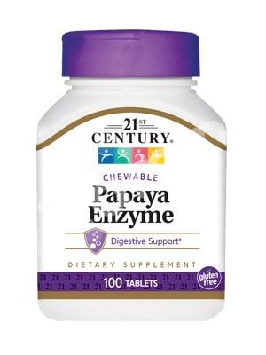 Папаин, 21st Century Health Care, 100 таблеток