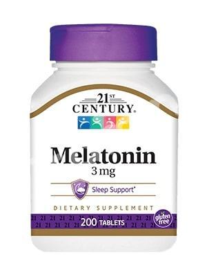 Мелатонин 3 мг, 21st Century Health Care, 200 таб.