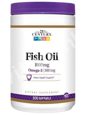 Рыбий жир в капсулах, 21st Century Health, 300 капсул