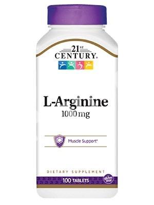 L-аргинин, 21st Century Health Care, 100 таблеток