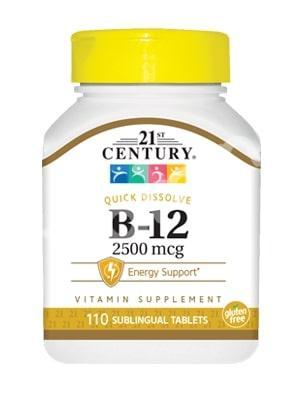 Витамин В12, 21st Century Health Care, 2500 мкг, 110 таб.