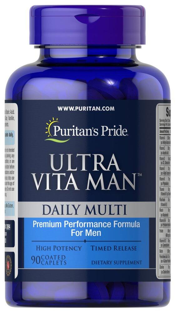 Комплекс витаминов и минералов для мужчин Ultra Vita Man, Puritan's pride