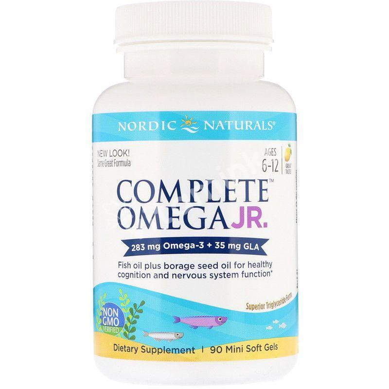 Омега 3 для подростков, 283 мг., Nordic Naturals, 90 мини капсул