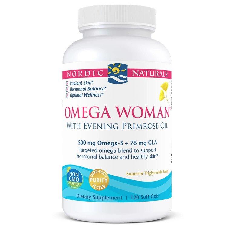Омега 3 с маслом вечерней примулы, 830 мг., для женщин, Nordic Naturals, 120 капсул
