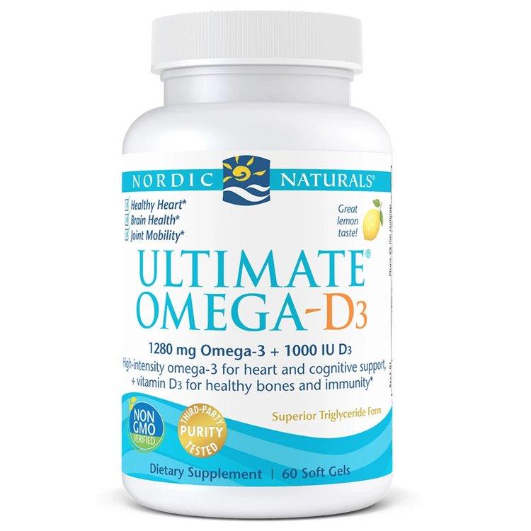 Омега 3 с витамином D, 1000 мг., Nordic Naturals, 60 капсул