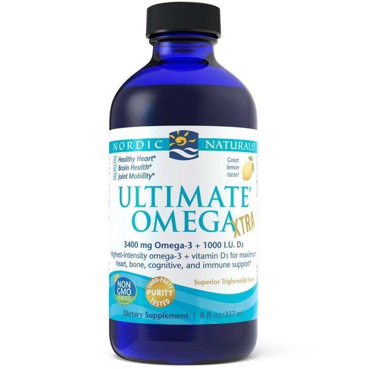 Омега 3,  Ultimate Omega Xtra, лимон, Nordic Naturals, 237 мл.