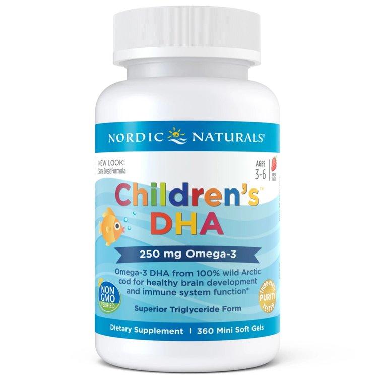 Омега 3 для детей, 250 мг., клубника, Nordic Naturals, 360 мини капсул