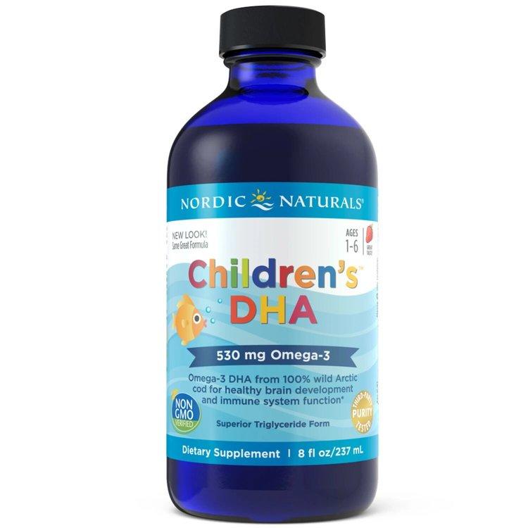 Омега 3 для детей, 530 мг., клубника, Nordic Naturals, 237 мл.