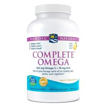 Омега 3, Complete, лимон, 1000 мг., Nordic Naturals, 180 капсул