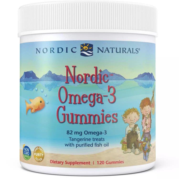 Омега 3 для детей, 82 мг., Gummies, мандарин, Nordic Naturals, 120 конфет