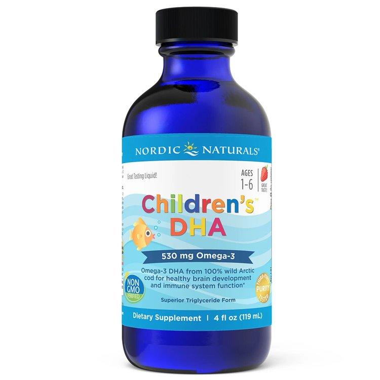 Омега 3 для детей, клубника, 530 мг., Nordic Naturals, 119 мл.