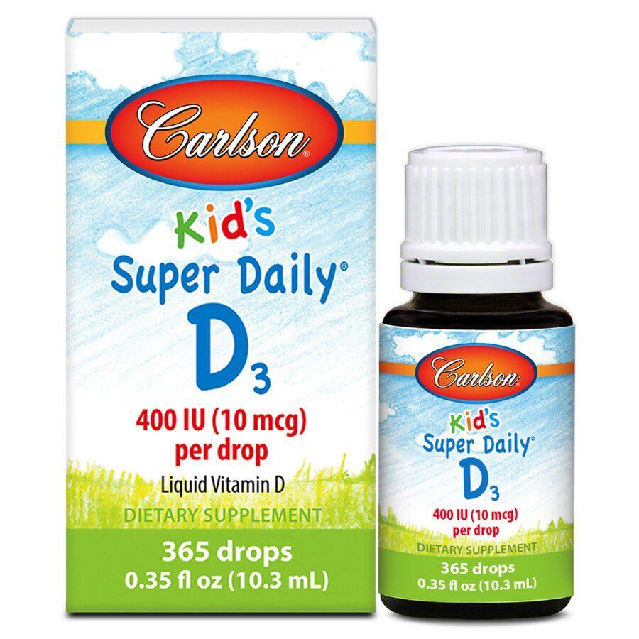 Витамин Д3, Carlson Labs, для детей, 400 МЕ, 10,3 мл