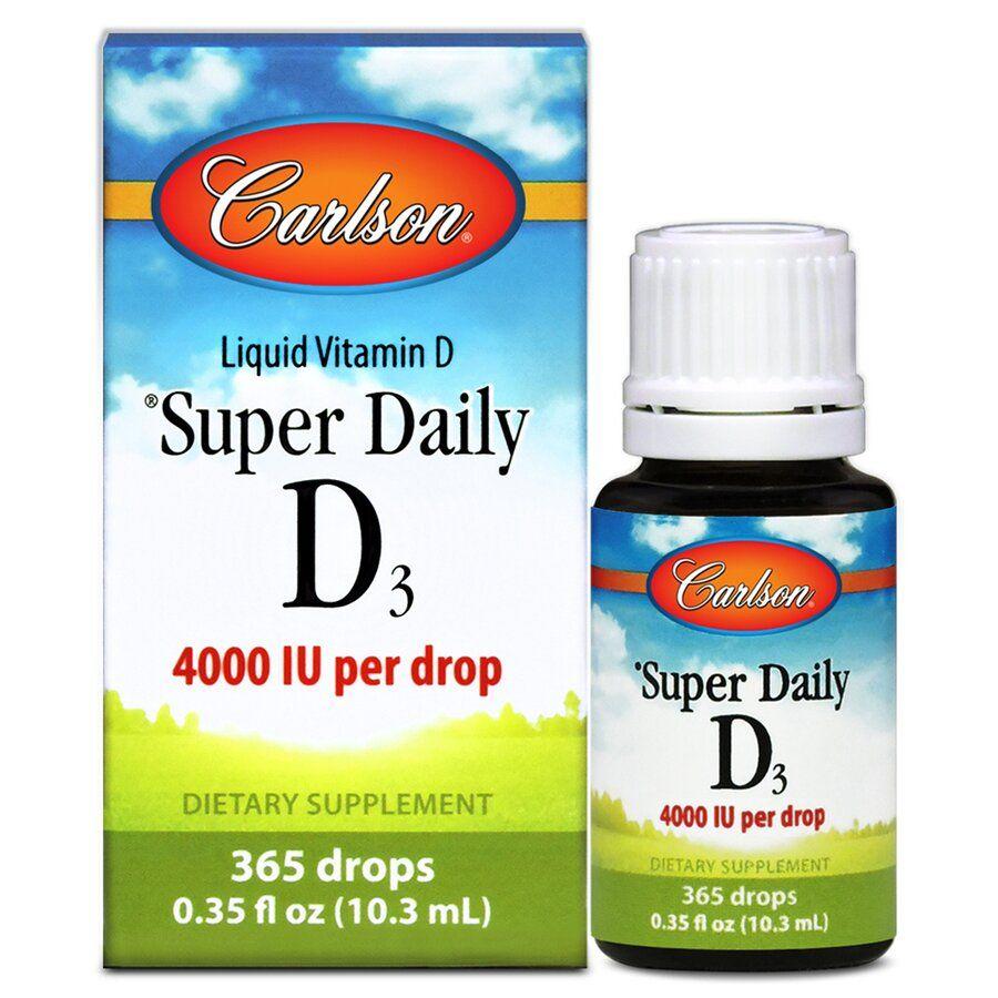 Витамин Д3, Carlson Labs, 4000 МЕ, 10,3 мл.