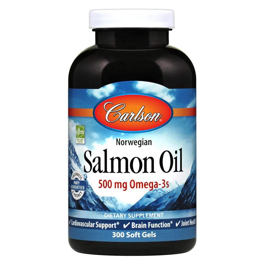 Масло лосося, Carlson Labs, норвежское, 500 мг.