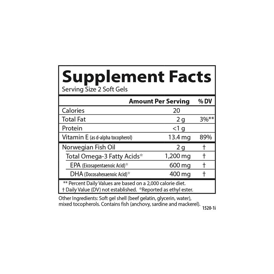 Рыбий жир, Wild caught Super Omega-3 Gems, Carlson Labs, 1200 мг, 300 капсул