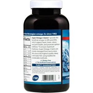 Омега-3 (супер), Carlson Labs, 1000 мг, 180 капсулы
