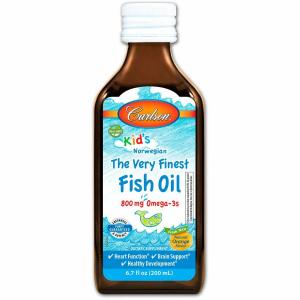 Рыбий жир для детей, апельсин, Carlson Labs, жидкий 200 мл.