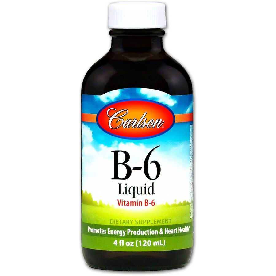 Витамин В6 (пиридоксин), Carlson Labs, 120 мл