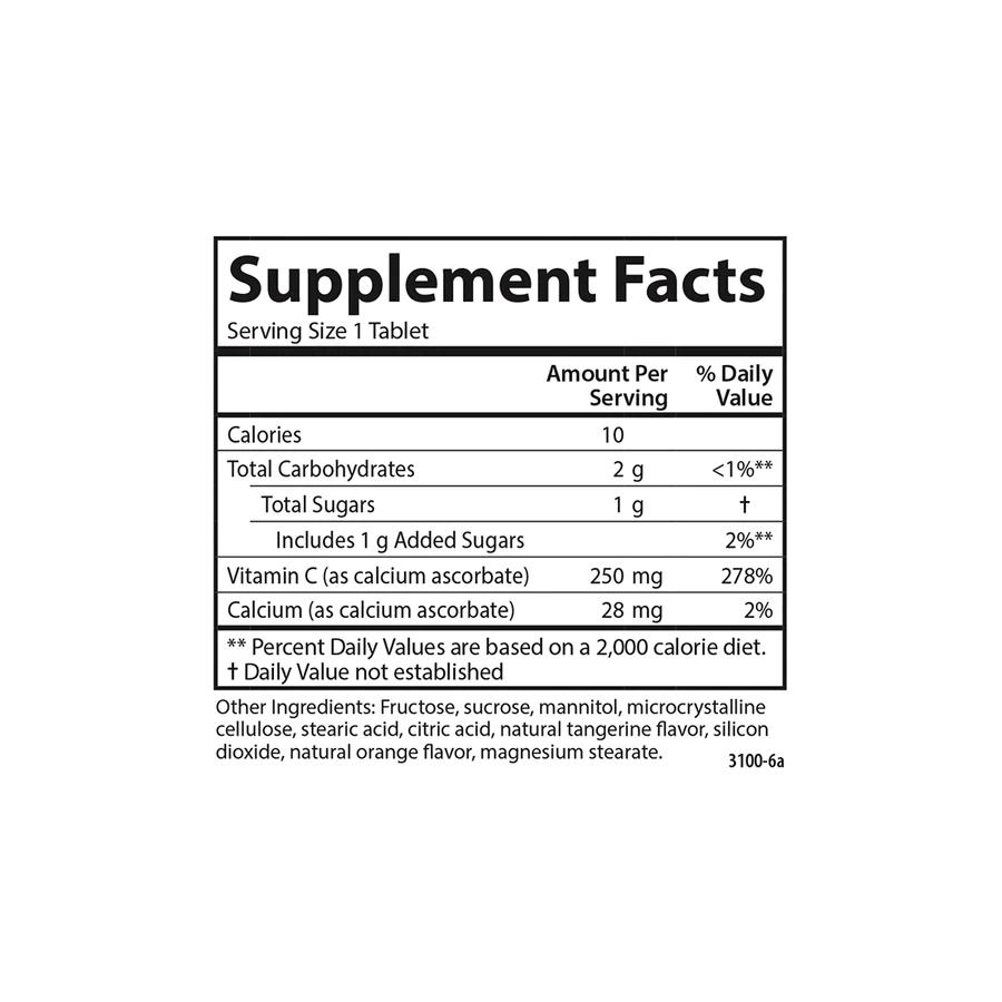 Витамин С жевательный, для детей, Carlson Labs, 250 мг, 60 таблеток
