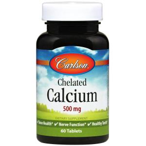 Кальций хелат, Carlson Labs, 500 мг, 60 таблеток