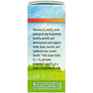 Витамин D-3 и Витамин К-2, для детей, Carlson Labs, жидкость, 25 мкг (1000 МЕ) и 22,5 мкг, 10,16 мл