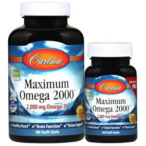 Максимум Омега, Carlson Labs, 2000 мг.