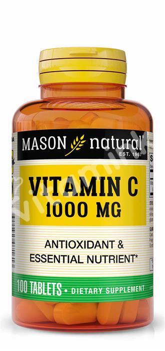 Витамин C, 1000 мг., Mason Natural