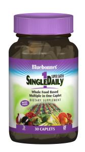 Мультивитамины без железа, Single Daily, Bluebonnet Nutrition