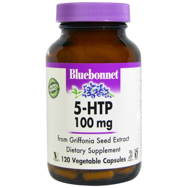 5-HTP (Гидрокситриптофан) 100 мг, Bluebonnet Nutrition, 60 капсул