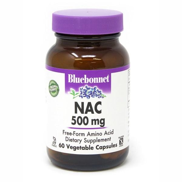NAC (N-Ацетил-L-Цистеин) 500мг, Bluebonnet Nutrition