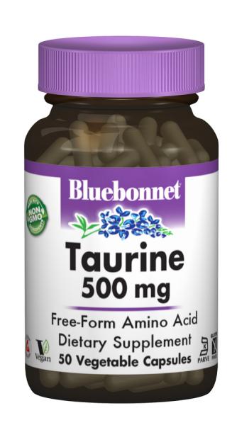 Таурин 500мг, Bluebonnet Nutrition