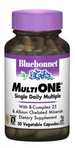 Мультивитамины с железом, MultiONE, Bluebonnet Nutrition